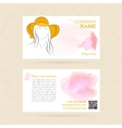 Business card woman in summer nat vector image vector image