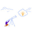 businessman looking binocular business idea light vector image vector image