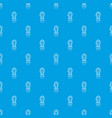 cactus pattern seamless blue vector image vector image