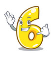 call me number six isolated on the mascot vector image vector image