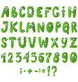 cartoon flat monsters alphabet icons green vector image vector image