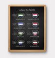 chalk drawn iced matcha tea recipes vector image vector image