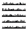 citys silhouette panorama in black color vector image