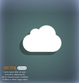 cloud icon symbol on the blue-green abstract vector image vector image