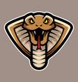 cobra snake head logo mascot vector image vector image