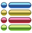 Color plastic buttons for web design vector image vector image