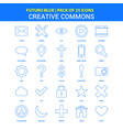 creative commons icons - futuro blue 25 icon pack vector image