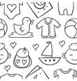 doodle element bastock vector image vector image