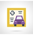 Driver life insurance icon vector image