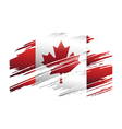 Flag Canada in the form traces brush vector image