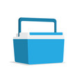 food container ice cooler vector image vector image