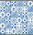 geometric tiles pattern portuguese vector image vector image