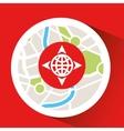 globe location laptop map gps vector image