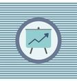 graph success on board color flat icon vector image