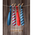 happy fathers day background with a colorful ties vector image
