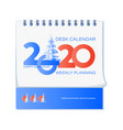 happy new year 2020 and snow-covered spruce vector image vector image