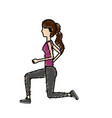 healthy woman doing exercise vector image vector image