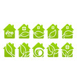 icon set eco house vector image