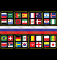 information graph of the flags of the country vector image vector image