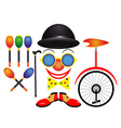 items for the circus vector image vector image