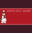 knit new year design with snowman vector image