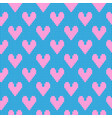 knitted hearts pattern pink blue vector image vector image