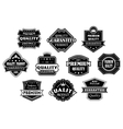 Labels set in vintage western style vector image