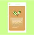 leafs mobile vertical banner design design vector image
