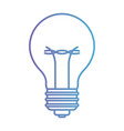 light bulb icon in degraded purple to blue contour vector image
