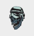 mummy skull vector image vector image