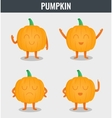 Pumpkin Funny cartoon vegetables Organic food vector image