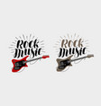 rock music lettering guitar musical string vector image vector image