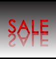 Sale red reflect vector image vector image