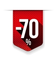 Sale seventy percent off banner red ribon vector image vector image