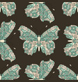 seamless hand drawn pattern with fantasy vector image