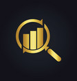 search business finance exchange gold logo vector image
