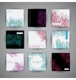 set abstract background templates retro style vector image vector image