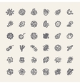 Set of 36 Icons with Bacteria and Germs vector image vector image