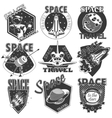 Set of icons space vector image vector image