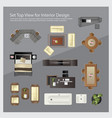 set top view for interior design isolated vector image vector image