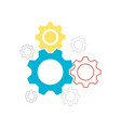 setting icon gear icon eps 10 vector image