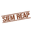 siem reap brown square stamp vector image vector image