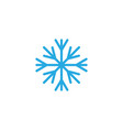 snow flake icon template vector image