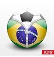 soccer ball inside Brazil symbol vector image vector image
