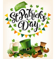 st patricks day vintage holiday banner design vector image vector image
