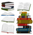 stack books for lover literature open vector image