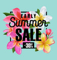 summer sale floral banner seasonal discount ads vector image