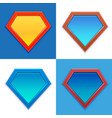 Superhero logo template blank super hero badge set vector image vector image