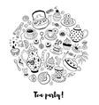 Tea party vector image vector image