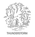 thunderstorm natural disaster vector image